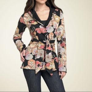 Lucky Brand Floral Hooded Kimono Jacket 7W70343